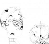 Nina Annabelle Märkl | Automat II | ink on paper | 29,7 x 21 cm | 2009