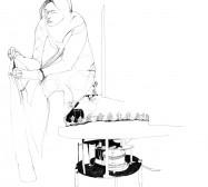 Nina Annabelle Märkl   Automatic I   ink on paper   47 x 36,5 cm   2010