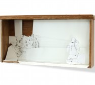 Nina Annabelle Märkl | Can we fly | ink on paper cut outs drawer | 40 x 70 x 12 cm | 2010