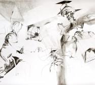 Nina Annabelle Märkl | Casting shadows II | ink pencil charcoal on paper | 110 x 160 cm | 2011