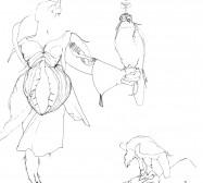 Nina Annabelle Märkl | Falkner | ink on paper | 29,7 x 21 cm | 2009