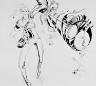 Nina Annabelle Märkl | Inside out | ink on paper | 175 x 139 cm | 2012
