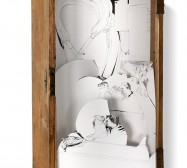 Nina Annabelle Märkl | Kein Freispiel drin | ink on paper cut outs box | 100 x 50 x 50 cm | 2010