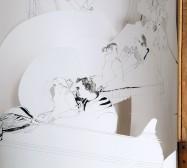 Nina Annabelle Märkl   Kein Freispiel drin   ink on paper cut outs box   100 x 50 x 50 cm   2010   Detail