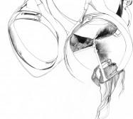 Nina Annabelle Märkl | Mask | ink on paper | 30 x 21 cm | 2011