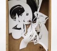 Nina Annabelle Märkl | Schweißer | ink on paper cut outs wooden box | 40 x 30 x 10 cm | 2012