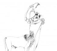 Nina Annabelle Märkl | Shadowboxers I | ink on paper | 40 x 30 cm | 2011