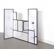 Nina Annabelle Märkl | Small world | ink on paper cut outs steel | 125 x 86 x 35 cm | 2008