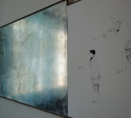 Nina Annabelle Märkl | Substance to shadows I | ink on paper metal | 60 x 120 cm | 2011 | from the right