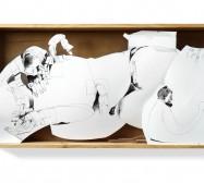 Nina Annabelle Märkl   Untitled   ink on paper cut outs box   36 x 75 x 7 cm   2010