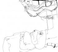 Nina Annabelle Märkl | Where is my mind | ink on paper | 21 x 15 cm | 2008
