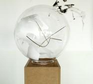Nina Annabelle Märkl | Kugeln | ink on paper cut outs brass mixed media | 50 x 50 x 146 cm | 2011