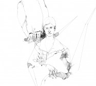 Nina Annabelle Märkl   Who we are II   ink on paper   30 x 21 cm   2010