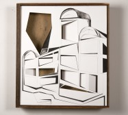 Nina Annabelle Märkl | Kabinett, leer | Ink on paper Cut Outs wooden box | 55 x 50 x 14 cm | 2013