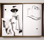Nina Annabelle Märkl | Wärmemessungen im Innenraum | Ink on paper Cut Outs wooden box | 55 x 73 x 13 cm