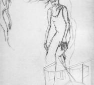 Nina Annabelle Märkl | Moshpit 10|11 | Kaltnadel, Tusche, Bleistift, 300g Hahnemühle Büttenpapier | Platte 29,7 x 27 cm Papier 56 x 39 cm