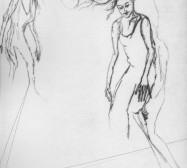 Nina Annabelle Märkl | Moshpit 11|11 | Kaltnadel, Tusche, Bleistift, 300g Hahnemühle Büttenpapier | Platte 29,7 x 27 cm Papier 56 x 39 cm