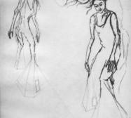 Nina Annabelle Märkl | Moshpit 6|11 | Kaltnadel, Tusche, Bleistift, 300g Hahnemühle Büttenpapier | Platte 29,7 x 27 cm Papier 56 x 39 cm
