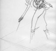Nina Annabelle Märkl | One step inside 13|14 | Kaltnadel, Tusche, Bleistift, 300g Hahnemühle Büttenpapier | Platte 35 x 23 cm Papier 56 x 39 cm