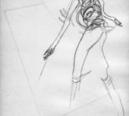Nina Annabelle Märkl | One step inside 6|14 | Kaltnadel, Tusche, Bleistift, 300g Hahnemühle Büttenpapier | Platte 35 x 23 cm Papier 56 x 39 cm