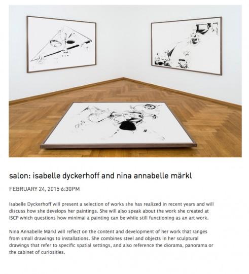 Nina Annabelle Maerkl_Salon ISCP