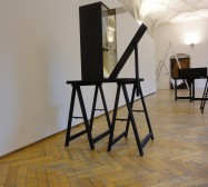 Nina Annabelle Märkl | Possible sculptures for a life somehow distracted | three sculptures, mixed media | Installation view Rathausgalerie | 2015