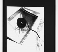 Nina Annabelle Märkl | Balancing the Whimsical I | Ink on paper, black paper | 100 x 70 cm x 3,5 cm | 2015 | photo: Walter Bayer