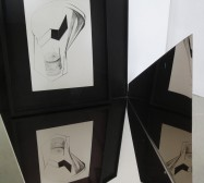Nina Annabelle Märkl | Fragmented Fiction III | Ink on folded paper cut outs | Installation view | 2015