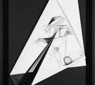 Nina Annabelle Märkl | Fragmented fiction IV | Ink on folded paper cut outs | 45,5 x 33 cm | 2015 | photo: Walter Bayer