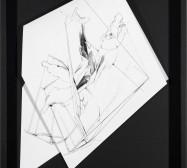 Nina Annabelle Märkl | Fragmented fiction VI | Ink on folded paper cut outs | 45,5 x 33 cm | 2015 | photo: Walter Bayer