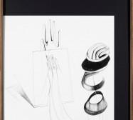 Nina Annabelle Märkl | Shifting Perceptions II | Ink and pencil on paper, black paper | 60 x 40 cm | 2015 | photo: Walter Bayer
