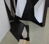 Nina Annabelle Märkl | Tangrammatics | Ink on folded paper cut outs mixed media | Installation | size flexible | 2015