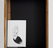 Nina Annabelle Märkl | Untitled | Ink and pencil on paper, black cardboard, box | 43 x 33 x 8 cm | 2014 | photo: Walter Bayer