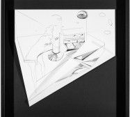 Nina Annabelle Märkl | Hidden Tracks III | Ink on folded paper cut outs | 36 x 40 cm | 2015