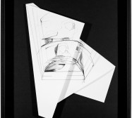 Nina Annabelle Märkl | Hidden Tracks IV | Ink on folded paper cut outs | 40 x 36 cm | 2015