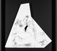 Nina Annabelle Märkl | Hidden Tracks I | Ink on folded paper cut outs | 40 x 40 cm | 2015