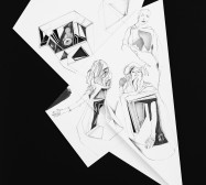 Nina Annabelle Märkl | Fragmented Fiction IX | Ink on folded paper, Cut - Outs | 44 x 36 cm | 2016