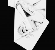 Nina Annabelle Märkl | Fragmented Fiction VIII | Ink on folded paper, Cut - Outs | 46 x 38 cm | 2016