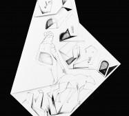 Nina Annabelle Märkl | Fragmented Fiction XI | Ink on folded paper, Cut - Outs | 50 x 38 cm | 2016