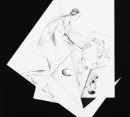 Nina Annabelle Märkl | Fragmented Fiction X | Ink on folded paper, Cut - Outs | 44 x 38 cm | 2016