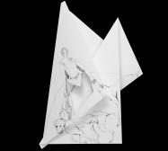 Nina Annabelle Märkl | Fragmented fiction 17 | Ink on folded paper, cut-outs | 44 x 37 cm | 2016