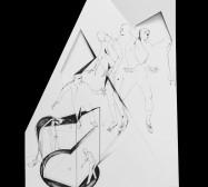 Nina Annabelle Märkl | Fragmented fiction 18 | Ink on folded paper, cut-outs | 48 x 38 cm | 2016