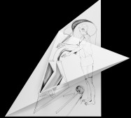 Nina Annabelle Märkl | Fragmented fiction 19 | Ink on folded paper, cut-outs | 46 x 38 cm | 2016