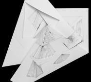 Nina Annabelle Märkl | Fragmented fiction 21 | Ink on folded paper, cut-outs | 50 x 40 cm | 2016