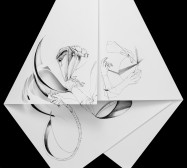 Nina Annabelle Märkl | Fragmented fiction 22 | Ink on folded paper, cut-outs | 50 x 40 cm | 2016
