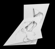 Nina Annabelle Märkl | Fragmented fiction 24 | Ink on folded paper, cut-outs | 50 x 35 cm | 2016
