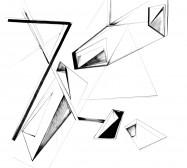 Nina Annabelle Märkl | Possible Spaces | Tusche auf Papier | 130 x 130 cm | 2016