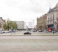Nina Annabelle Märkl | Possible Spaces | Digital print | 500 x 500 cm | 2016 | Foto: Sebastian Schels