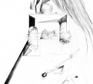 Nina Annabelle Märkl | Garden | Ink on paper | 60 x 40 cm | 2016