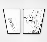 Nina Annabelle Märkl | Scapes 5 | Ink on paper, cutouts, wood | 60 x 80 cm | 2014